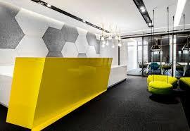 Yellow Reception Desk G Shape Custom Design Reception Desk Supplier Red White