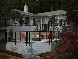 Tri Level Home Modern Aluminum Deck Design And Build General Contractors In