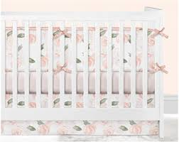 floral crib bedding etsy