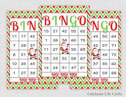 printable christmas bingo cards pictures 200 christmas bingo cards diy printable game for christmas
