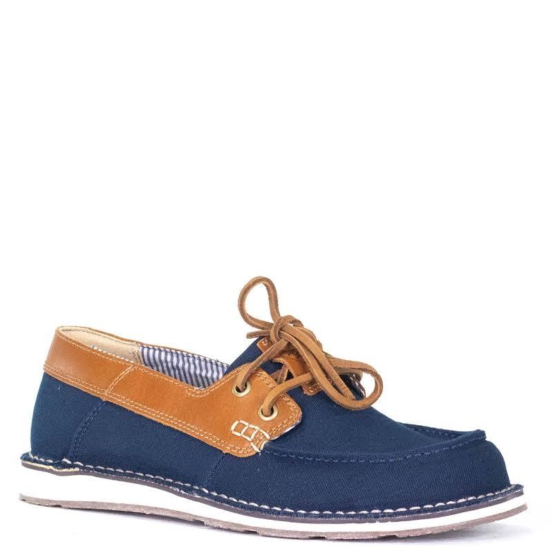 Ariat Ladies Cruiser Castaway Navy & Gold Oak Slip-On Shoe 10027157