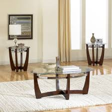 standard furniture apollo 3 piece coffee table set in dark brown