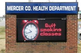 lighted message board signs internally illuminated header panel with full color daktronics