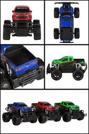rc monster jam trucks ford f 150 svt raptor 1 24 electric rc monster truck 3 pack