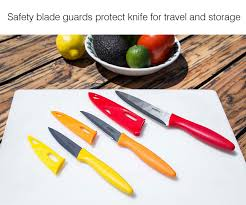 Knives For Kitchen Use Amazon Com Zyliss 3 Piece Paring Knife Set With Sheath Covers