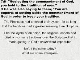 chapter god s word verses traditions what defiles the the