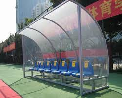 Stadium Bench Substitute Bench Portable Player Bench With Shelter Team Shelter