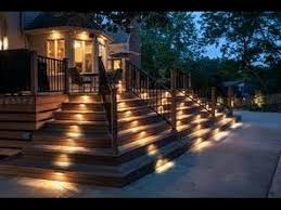 led light installation near me deck stair led lighting installation youtube