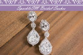bridal drop earrings statement earring bridal earrings swarovski earrings