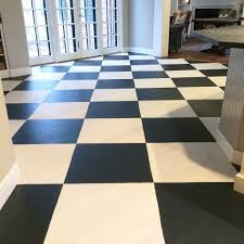 how to paint a farmhouse black and white painted checkered floor farmhouse painted black and white checkered floor by meme hill studio
