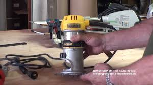 dewalt dwp 611 router review at the yacht shop youtube