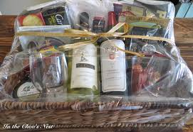 what to put in a wine basket in the chou s nest diy wine gift basket