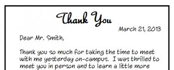 bunch ideas of thank you letter after interview handwritten for