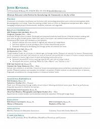 Resume Sle For middle school resume exles education toreto co