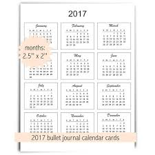 mini calendar template 2017 mini calendar cards instant commercial use