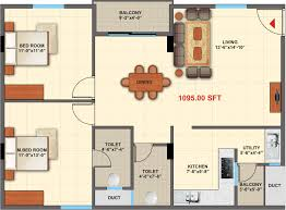 1095 sq ft 2 bhk 2t apartment for sale in purva mithra apurva