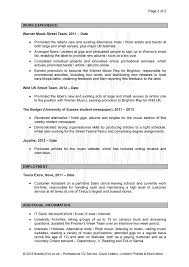Sample Resume Format Uk by Sample Cover Letter For Resume Uk