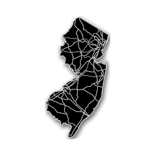 State Of New Jersey Map by New Jersey Acrylic Cutout State Map Modern Crowd Touch Of