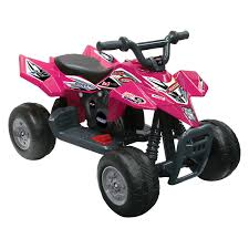 kid motorz quad racer atv battery powered riding toy red
