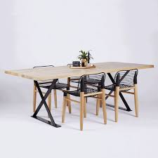 designer alexandria black steel industrial dining table oak alexandria industrial dining table black