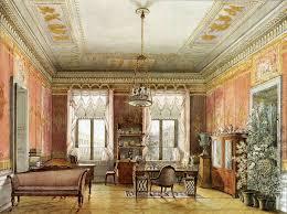 russian interior design неизвестный художник гостиная кабинет м т пашковой на невском