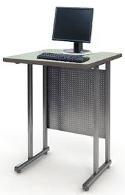 all standing height work station by paragon options desks