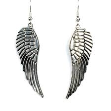 wing earrings silver angel wing earrings