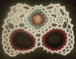 Skull Mask Halloween Sugar Skull Mask Crochet Pattern Pdf Download Day Of The Dead