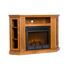 Electric Fireplace With Storage by Oak Electric Fireplace Tv Stand With Fireplace And Media Storage