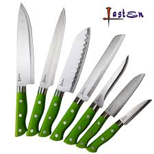 lasten 7 piece premium kitchen knife set stainless steel knives