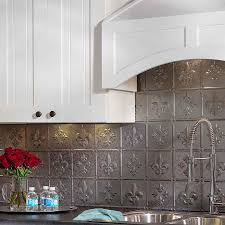 interior aspect brushed stainless long grain metal backsplash