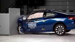 lexus ct200h vs honda accord iihs 2015 honda accord 2 door coupe small overlap crash test