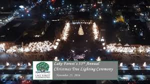 lake forest tree lighting ceremony 2016