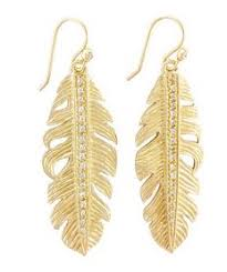 gold feather earrings the look kyle richards gold feather earrings big