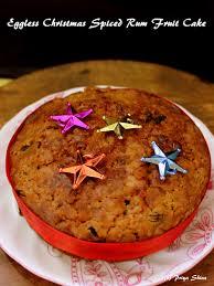 eggless christmas spiced rum fruit cake jpg