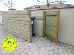 fabriquer cache poubelle coffre banc jardin bois jardin des idées pour aménager un