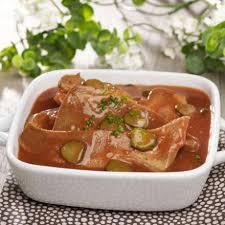 cuisine langue de boeuf langue de boeuf sauce piquante 1 1 kg 4 parts auchan traiteur