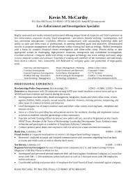 Law Enforcement Job Description Resume by Corporate Security Investigator Cover Letter