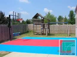 Half Court Basketball Dimensions For A Backyard by Outdoor Courts For Sport Backyard Basketball Court Gym Floors
