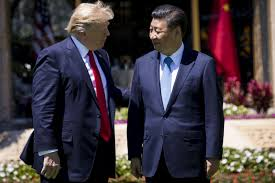 at us china summit trump presses xi on trade north korea