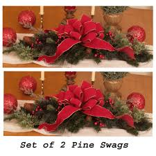 set of 2 holiday table centerpieces cr1030 christmas decorations