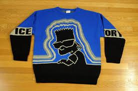 iceberg sweater 90s iceberg history bart sweater oversize hip hop