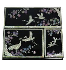 pour le de bureau accessoires bureau de luxe artisanat asie nacre naturelle