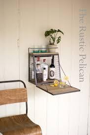 wall bar with fold down shelf industrial wall shelf bar