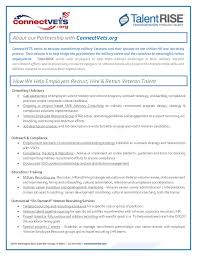 Military Resume For Civilian Job by Talentrise Sales Sheet Military Overview 2015