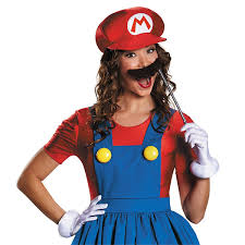 Mario Luigi Halloween Costume Amazon Disguise Women U0027s Mario Skirt Version Costume