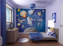 theme wall decorating with a space theme