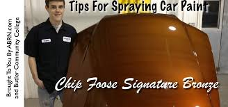 How To Spray Metallic Paint - how to spray chip foose u0027s signature bronze paint car maintenance
