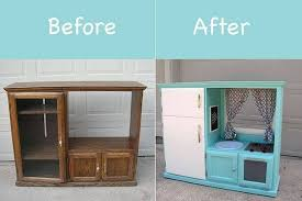 tv cabinet kids kitchen turn an old tv cabinet into an awesome kid s kitchen we ve