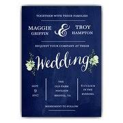 blue wedding invitations wedding invitations paperstyle